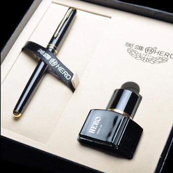 英雄钢笔5020礼盒装礼品笔书写笔墨套装办公用学生用钢笔
