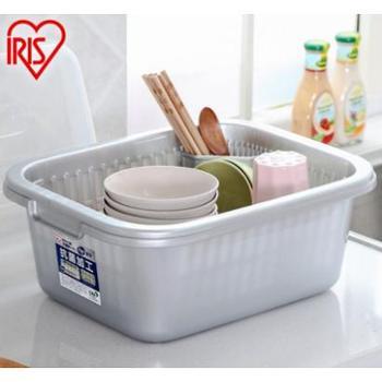 爱丽思IRIS 双层长方形漏盆厨房用品带盖塑料沥水篮KMF-32AG