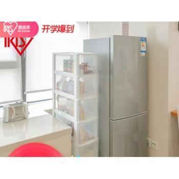 爱丽思IRIS窄型抽屉式收纳柜塑料整理柜爱丽丝多层带轮角落窄柜子
