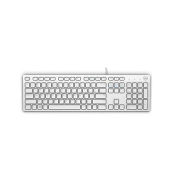 戴尔键盘(DELL)KB212-B多媒体办公键盘(白色)