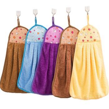 5条厨房擦手巾儿童可爱搽手巾挂式吸水擦手布小毛巾擦水抹布手帕