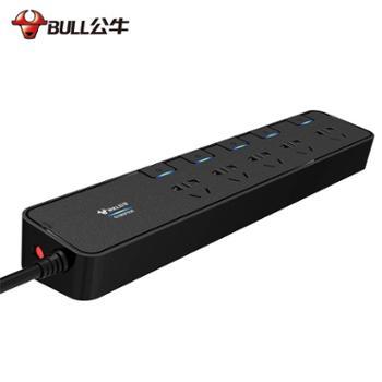 公牛插座抗电涌过载保护防雷USB多功能插排3米