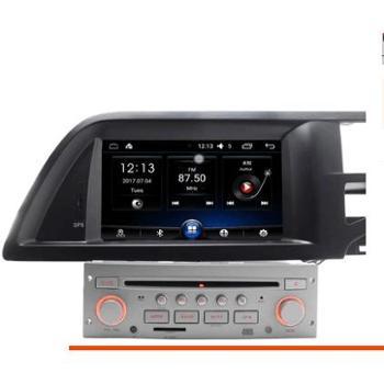08-12年东风雪铁龙老C5导航安卓带DVD智能车机中控7寸大屏一体机