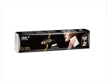 洁柔(C&S)手帕纸 黑Face 加厚4层面巾纸8片*12包