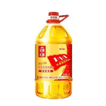 金龙鱼 至臻礼遇 非转基因 黄金比例 食用植物调和油 5L