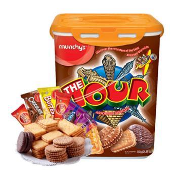 马来西亚进口 马奇新新乐多什锦饼干6种口味独立小包装礼盒装 700g