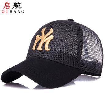 新款女士时尚棒球帽夏季全网户外刺绣韩版防晒遮阳帽透气鸭舌帽子