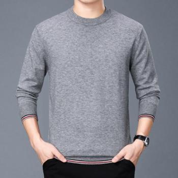 毛衣男式新品男士针织衫圆领休闲加厚羊毛衫男装上衣