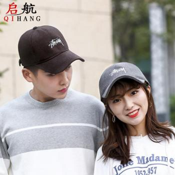 新款冬季男女士棒球帽户外韩版休闲加厚保暖百搭刺绣字母鸭舌帽子