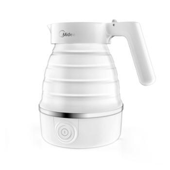 美的(Midea) MK-SH06Simple101电水壶可折叠壶身奶嘴级硅胶电水壶0.6L