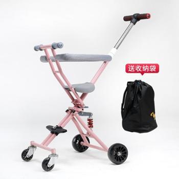 溜娃神器带减震器一键折叠溜娃神器手推车