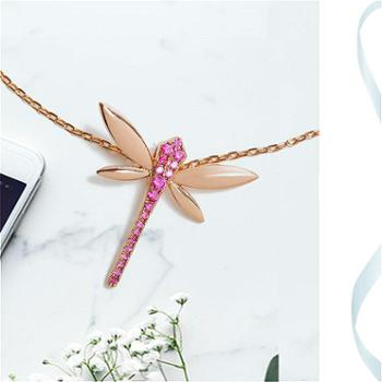 FEO峰谷蜻蜓项链