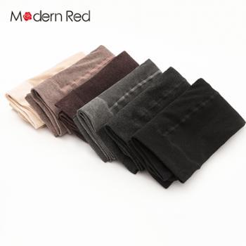 ModernRed加绒龙爪毛精梳棉抽条连裤袜