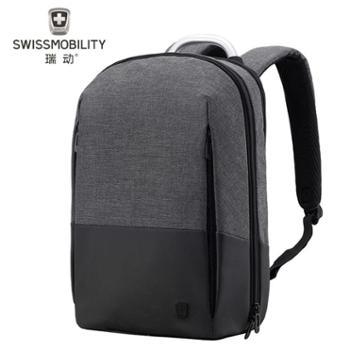 瑞动(SWISSMOBILITY)休闲商务双肩包电脑包15英寸学生书包双肩背包MT-5928