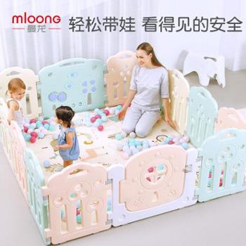 曼龙婴儿游戏围栏宝宝爬行垫学步护栏室内儿童安全栅栏家用游乐场
