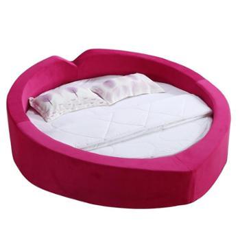 2米 心形 圆床 个性 大 软体床 简约现代 酒店圆床 双人床 婚床