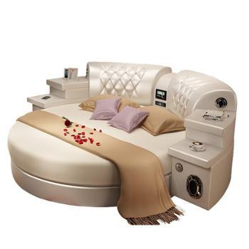 软体床圆床公主床时尚音响榻榻米皮艺床欧式婚床双人床床