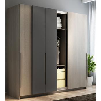 衣柜 北欧推拉门移门衣柜 整体衣橱趟门大衣柜卧室家具