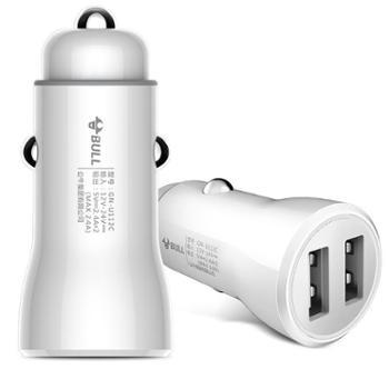 公牛(BULL)车载充电器车充点烟器GN-U112CN白色5V/2.4A双USB一拖二PC材质