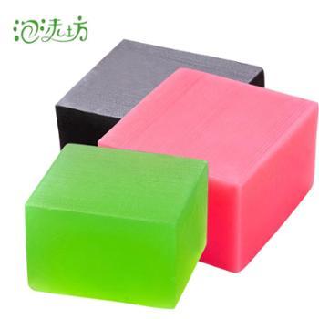 泡沫坊玫瑰皂茶树皂竹炭皂精油手工皂三件套360G