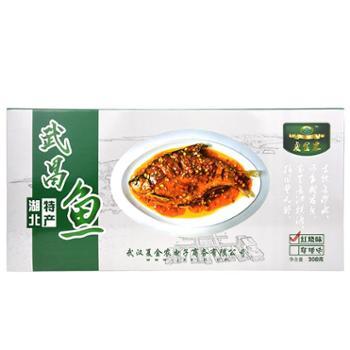 湖北特产夏金农梁子湖武昌鱼308g/盒麻辣味