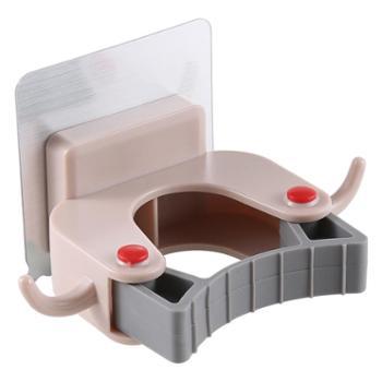 拖把架挂钩卫生间无痕粘钩浴室扫把挂架吸盘卡座免打孔强力拖把夹
