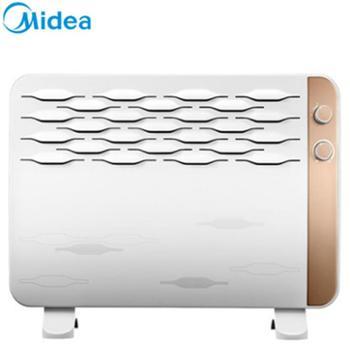 美的取暖器NDK18-15G对衡式电暖器IPX4防水双重过热保护倾倒自动断电