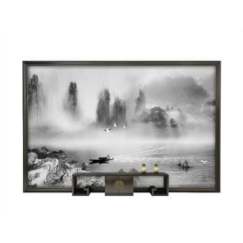 沙发电视背景墙抽象墙山水墙客厅卧室800*800