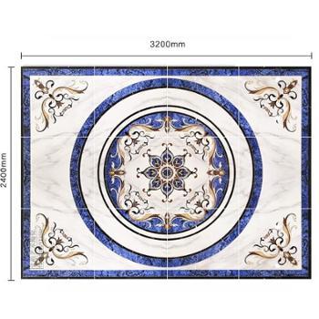 续美拼花地砖800x800简约现代客厅餐厅瓷砖拼花欧式大堂微晶石砖