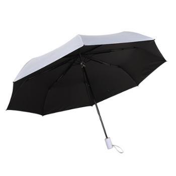 多盈折叠雨伞商务创意太阳伞黑胶雨伞遮阳伞
