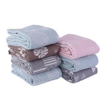 青九纺新日式天竺棉针织提花四件套100%纯棉床品套件被套床单床笠款