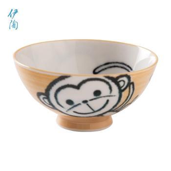 日本伊陶儿童卡通日式家用宝宝创意小饭碗/个