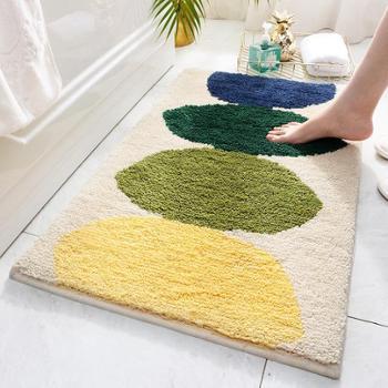 卧室客厅地毯地垫植绒简约家用厨房卫生间门口吸水防滑脚垫1张