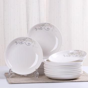 陶瓷餐具盘子或米饭碗或面条碗10个装