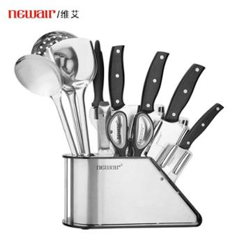 维艾刀具套装厨房不锈钢切菜刀切肉刀切片水果刀家用全套厨具德国