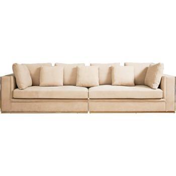 后现代真皮沙发组合简约头层牛皮磨砂皮港式轻奢客厅家具