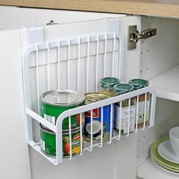 厨柜挂篮铁艺收纳厨房置物架收纳架门后隐形篮调味瓶置物篮