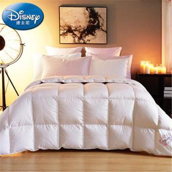 Disney/迪士尼羽绒被芯单双人纯棉95白鸭绒被子加厚被芯卡通儿童冬被炫彩公主