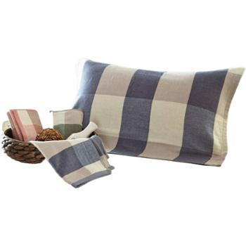 花蓉蓉枕巾一对装单人纯棉纱布高档欧式全棉学生枕头巾家用加厚
