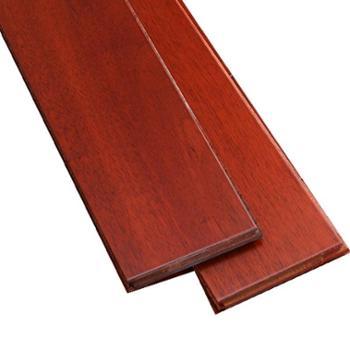 伐木时光 番龙眼 酒红色纯实木地板
