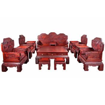 红木家具小叶紫檀客厅沙发13件套明清古典