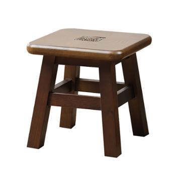 实木圆凳家用美式复古板凳餐凳简约餐桌凳儿童创意小凳子椅子