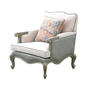 实木沙发组合三人位欧式小户型轻奢客厅家具套装