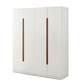 希尚现代简约经济型收纳板式衣柜对开门白色