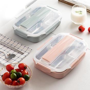 美厨304不锈钢饭盒加大加深学生保温3格