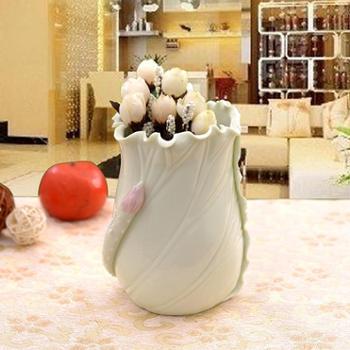 清彩陶瓷陶瓷笔筒工艺品家居饰品小摆件花瓶摆设h01