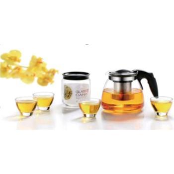 新款四季适用茶壶套件玻璃茶壶小怡然壶六件套茶壶套件