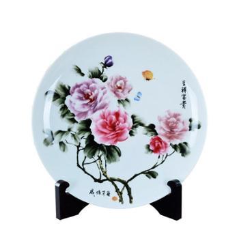 瓷博景德镇瓷器盘子摆件装饰工艺品戚培才吉祥富贵