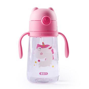 杯具熊学饮杯宝宝吸管杯婴儿吸管杯儿童喝水杯子Tritan安全材质