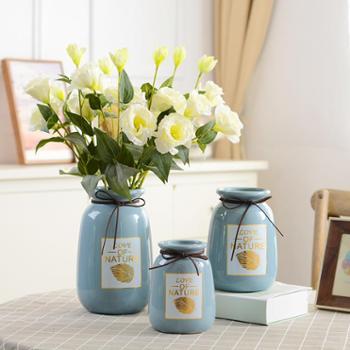 小清新陶瓷椭圆形花瓶小号客厅插花家居装饰现代简约创意摆设摆件
